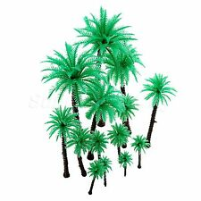 14Pcs Assorted Coco Palm Tree Model 1:50 O HO Scale Landscape Scenery Layout New
