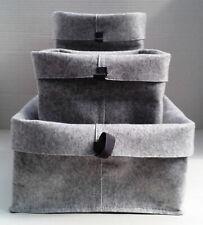 RAGGISAR small, grey, felt look, storage bags / baskets - Ideal for small items