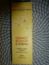 The Scottish Fine Soaps~Orange Blossom & Verbena~Hand & Nail Cream 3.5 Oz Nib