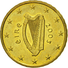 [#466273] IRELAND REPUBLIC, 10 Euro Cent, 2003, EF(40-45), Brass, KM:35