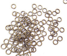 Antique Brass Plated 1mm Thick 6mm Jumpring Lead Nickel Safe Findings Q250 66326