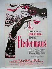 FLEDERMAUS Herald IRRA PETINA / MICHAEL BARTLETT / JOHANN STRAUSS Tour BOSTON 56