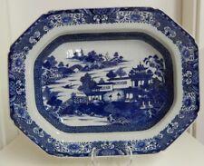 Antike chinesische Porzellan Schale 19. Jahrhundert Blau bemalt TOP