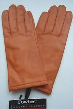 Ladies Fownes Genuine Leather Driving Gloves,Small Orange
