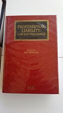 Professional Liability: Law and Insurance. Ray Hodgin. LLP 1996