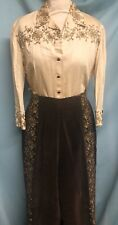 Vintage 1950s Malbe Matador Embroidered Capri Pants Blouse Set Western VLV