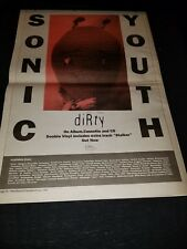 Sonic Youth Dirty Rare Original UK Promo Poster Ad Framed!