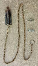 Cleaned Antique Vintage Stanley Double Door Flush Cremone Slide Bolt Lock Chain