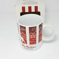 IN BOX TIM HORTONS RED CANADA TRAVELLERS COLLECTION COFFEE MUG 2016