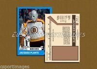 Jacques Plante - Boston Bruins - Custom Hockey Card  - 1972-73