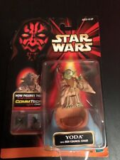 Hasbro STAR WARS YODA Jedi Council Chair Action Figure CommTech Chip 1998 NIB
