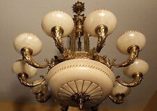 spanish alabaster  chandelier 14 lights and  solid bronze made in America