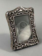 More details for edwardian silver photograph frame green & cadbury birmingham 1904 czx