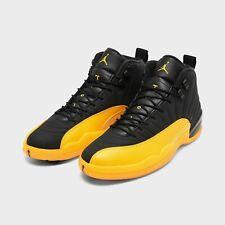 NEW Air Jordan 12 University Gold Yellow Black Retro 130690-070 Size 6-7 10.5-15