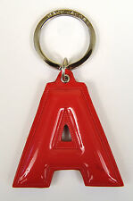 Marc by Marc Jacobs Alphabet Letter Initial Key Ring Chain Charm Holder Red A