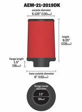 K&N AEM DryFlow Air Filter, Part Number : AEM-21-2019DK