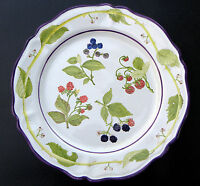 "SUMMER BERRIES by MAJILLY OF ITALY ~ MAJOLICA ~ 14 3/4"" LARGE ROUND PLATTER"