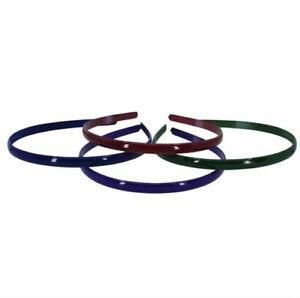 1.2cm Plain Coloured Plastic Alice Hair Band Headband, 5 Colours Available