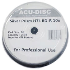 10x BD-R ACU-DISC BLU-RAY 10X SPEED SILVER TOP DISCS 25GB - 10 PACK