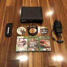 Black Microsoft Xbox 360 Console 120GB HDD AND 5 Games Bundle COD FIFA GTA