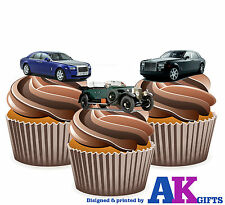 Rolls Royce Mens Boys Birthday Party 12 Cup Cake Toppers Edible Decorations