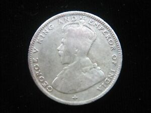 STRAITS SETTLEMENTS 20 CENTS 1919 SILVER BRITISH MALAYSIA SINGAPORE 224# COIN