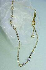 FUßKETTE FUßKETTCHEN  750 GOLD 18 KT  *bicolor* 23,5 - 25,5 cm  NEU  wunderschön