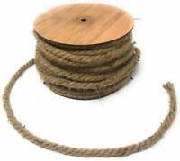 Corda canapa bobina rotolo juta matassa 37m spessore 1 cm x giardinaggio imballi