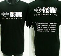Rare Hard Rock Cafe RISING ON THE ROAD TOUR T Shirt Men Size L Music Concert Tee