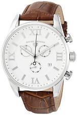 Swiss Legend 22011-02-BRN Brown Leather Strap Silver Case Men's Quartz Watch