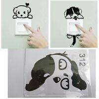 Stickers chien pour interrupteur, chambre d'enfant