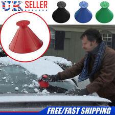 Practical Ice Scraper Outdoor Funnel Windshield Magic Snow Remover Car Cone UK