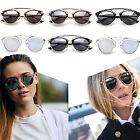 Unisex Men Women Retro Cat Eye Mirror Designer Glasses Sunglasses Eyewear Q#