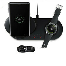 QI Wireless Phone + Watch Charger Duo Dock Dual For Samsung Galaxy Note 8 9 10