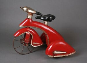 RED SKY KING STYLE TRICYCLE.   VINTAGE MERCURY/ LINCOLN AUTOMOBILE FENDERS