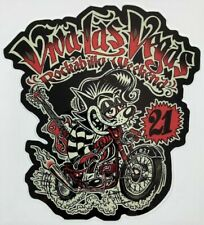 Biker Rat STICKER Decal Viva Las Vegas 21 Rockabilly Weekend Artist Big Toe