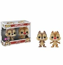 Funko POP Vinyl - DISNEY - CHIP & DALE - FLOCKED - SDCC 2017