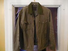 LEVIS x FILSON HUNTER TRUCKER JACKET XL OIL FINISH TIN CLOTH OLIVE