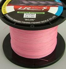 LR BRAID FISHING LINE 15LB 300M PINK, MADE FROM 100% UHMWPE DYNEESI
