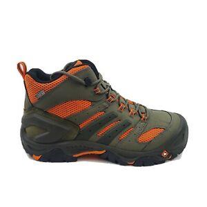 Merrell Men Green Strongfield Waterproof Composite Toe Work Boot J35097 Size 11