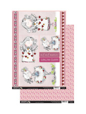 Lilac Olive Dancing Queen Topper & Backing Sheet Set - Die Cut