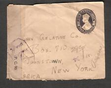 India July 1944 WWII PC90 DHA/6 & 244 censor 1 1/2 Annas postal cover to USA