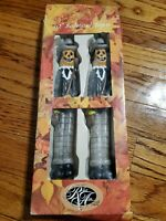 "Vintage Halloween 2 Candles Taper scarecrow Pumpkin 10"" Robert Alan Candle Co."