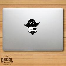 Pirate with a Mustache Macbook Sticker / Macbook Decal / Cover / Skin
