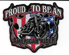 PROUD TO BE AN AMERICAN RIDER  DELUXE BIKER PATCH