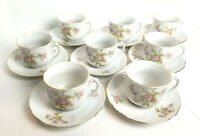 Vintage KAHLA German Porcelain Cups and Saucers circa 1900-1927 set of 8