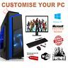 ULTRA FAST i3 i5 i7 Desktop Gaming Computer PC 2TB + SSD 16GB RAM GTX 1660 Win10