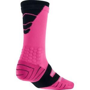 Nike Elite Vapor Mens L 8-12 Cushioned Football Socks Pink SX4598 FAST SHIP! C68