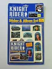 Vintage Knight Rider Sticker & Album Set NOS 1984 12 Pg Album Full Color Sticker