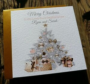 """Handmade Personalised Christmas Card Family Friends  Anyone 6"""" Square SDD"""